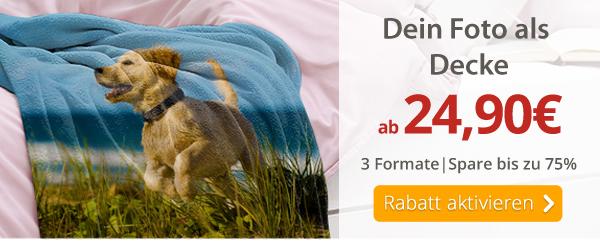 Dein Foto als Decke ab 24,90€*