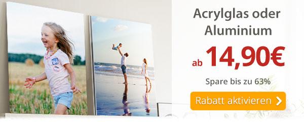 Dein Foto hinter Acrylglas oder auf Aluminium ab 14,90€*