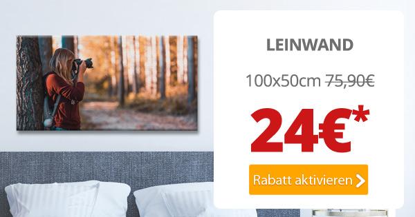 Panorama-Leinwand in 100x50cm für nur 24€*
