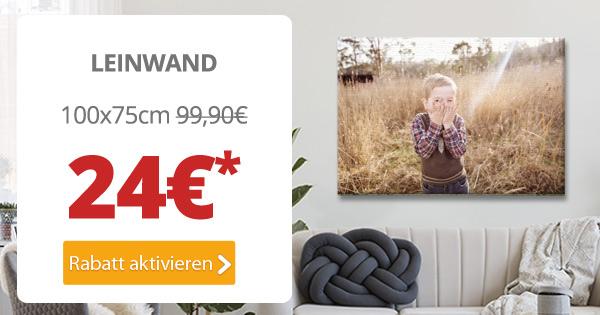 Dein Foto als 100x75cm-Leinwand für nur 24€*