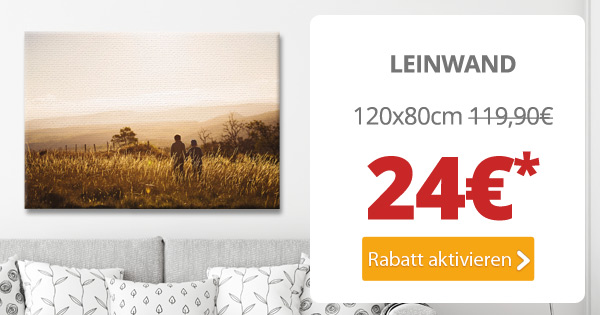 Dein Lieblingsfoto als 120cm-Leinwand für nur 24€*